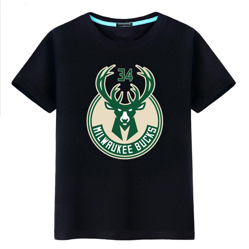 字母哥雄鹿队球衣运动篮球短袖t恤19.90元包邮