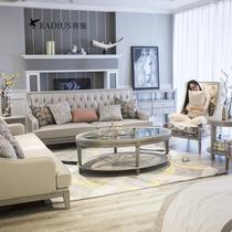 睿驰 Camille美式全实木沙发 2019年9月新款轻奢布艺坐垫沙发组合
