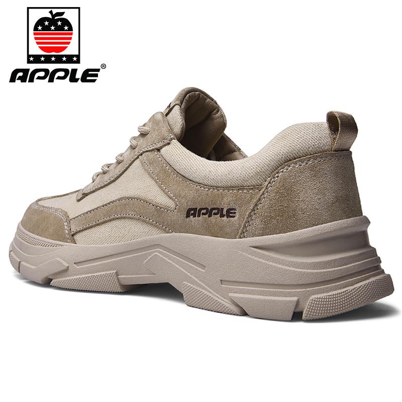 APPLE/苹果(男鞋)男士夏季驾车工装鞋透气网面运动户外休闲皮鞋