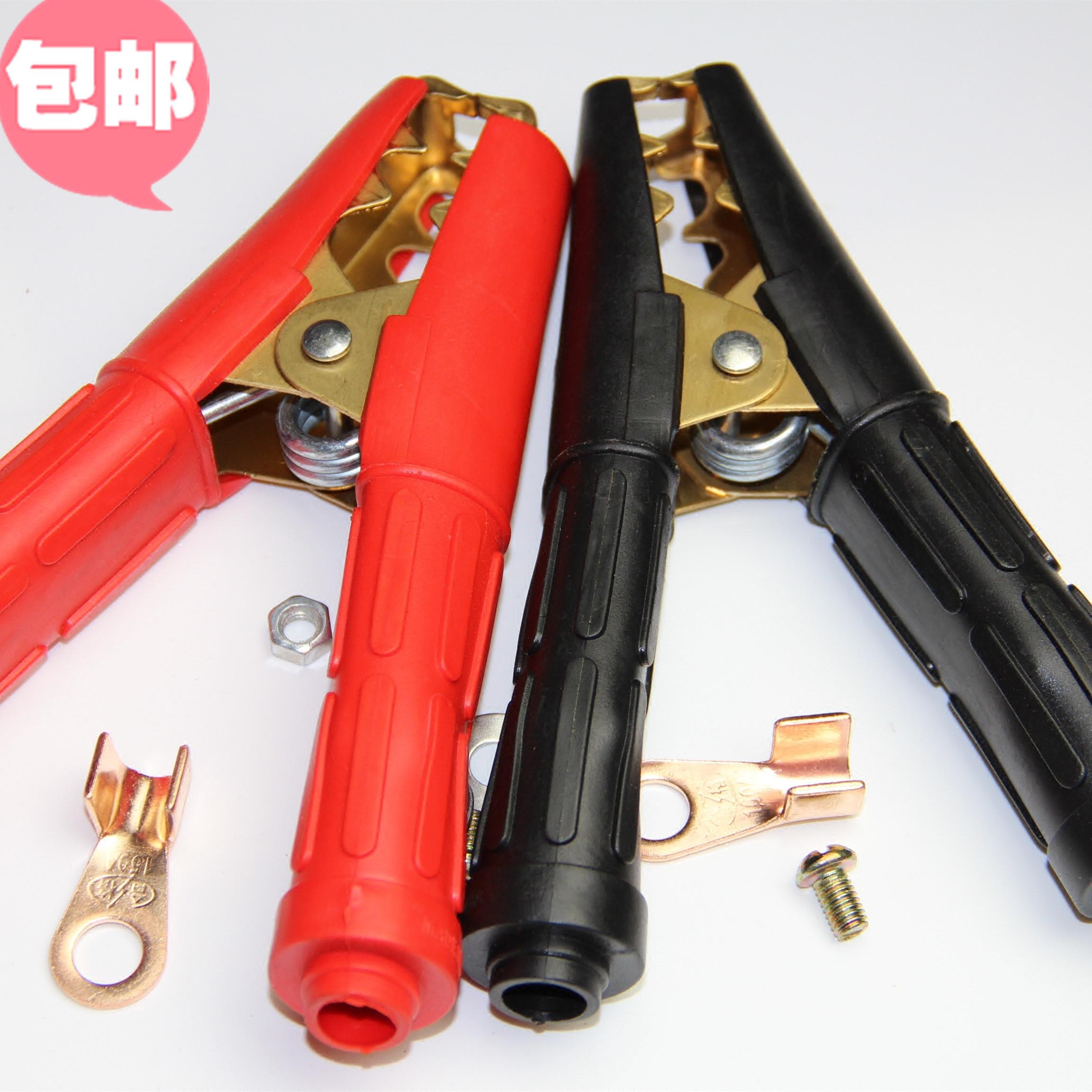 纯铜电瓶连接线夹子加厚汽车搭电鳄鱼夹线夹强力大号铜卡子包邮