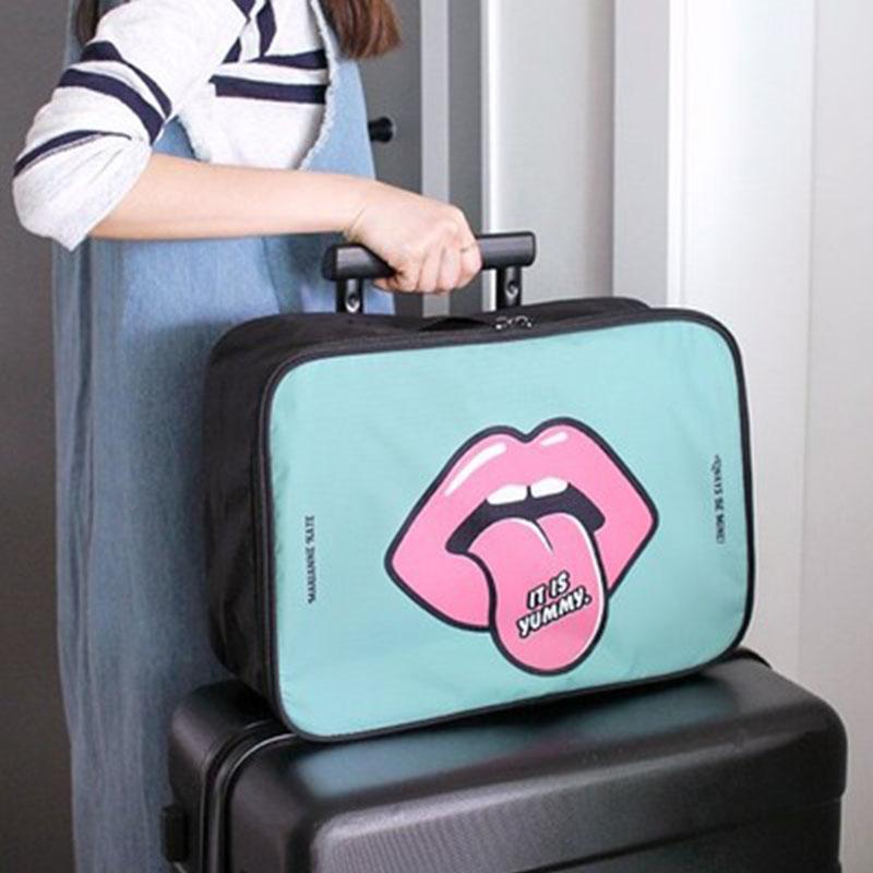 韓版大容量旅行袋出差短途旅行包可套行李箱拉桿收納包衣物收納袋
