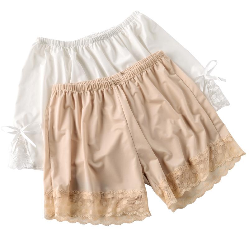 冰丝安全裤女防走光夏季薄款大码蕾丝边可外穿保险打底裤宽松短裤