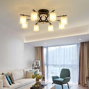 客厅灯北欧轻奢风格吊灯美式简约现代家用大气吸顶灯卧室餐厅灯饰