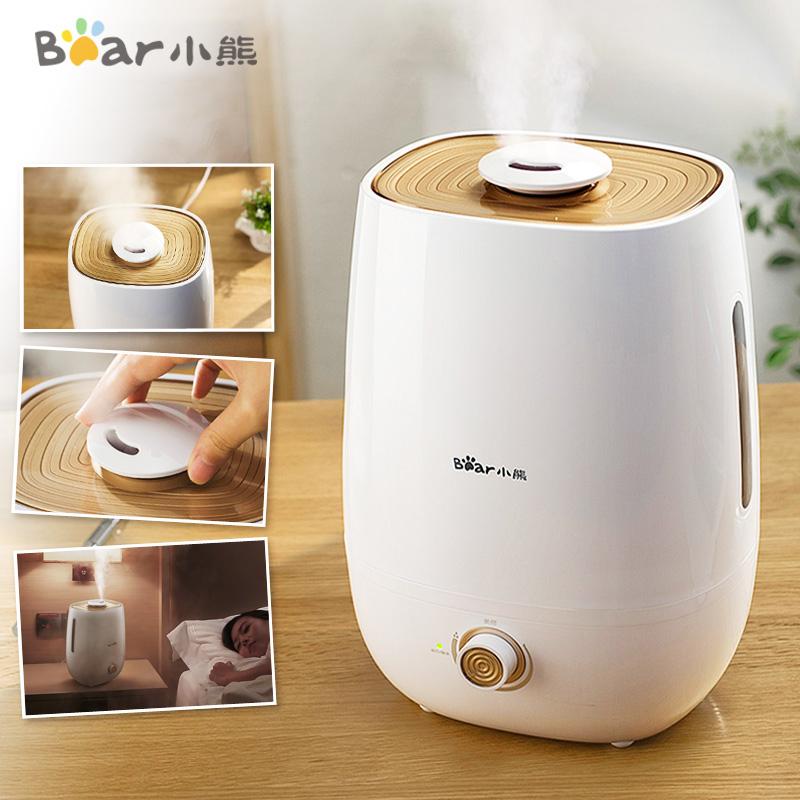 小熊加湿器家用迷你静音卧室办公室大容量婴儿孕妇空调房空气香薰图片