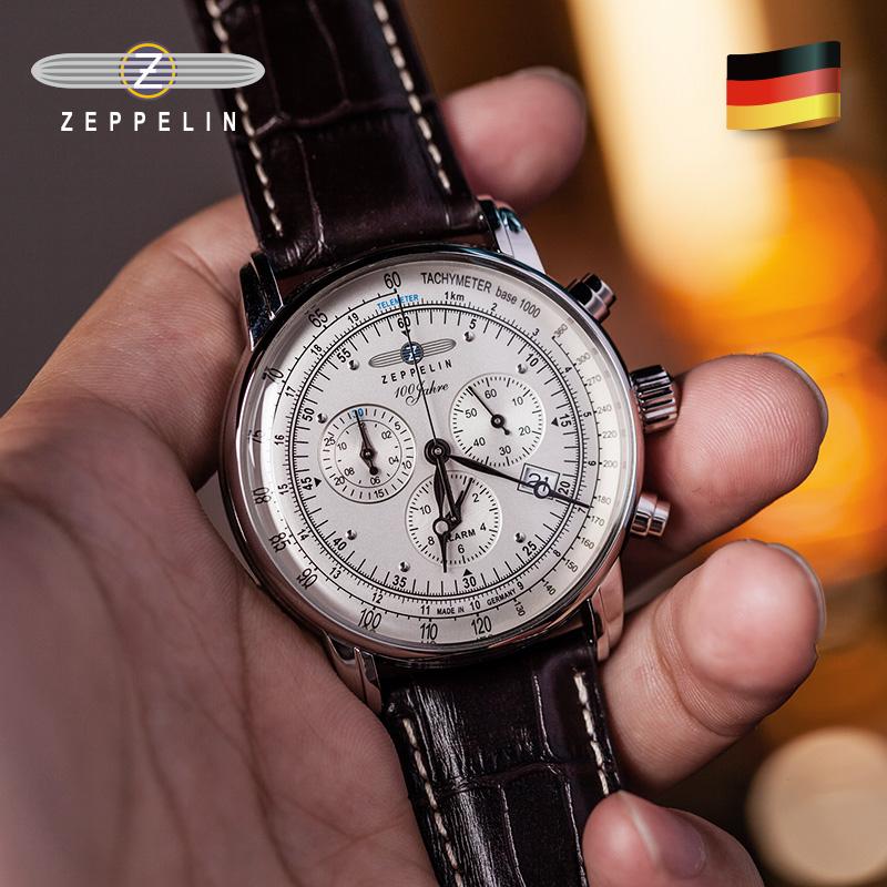 齐博林手表男士德国复古石英表商务休闲小众轻奢名牌男表潮流腕表