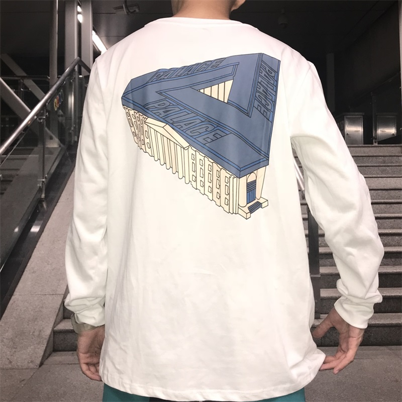 PALACE LIFE PALAZZO立体建筑宫殿大三角LOGO宽松卫衣长袖潮牌T恤