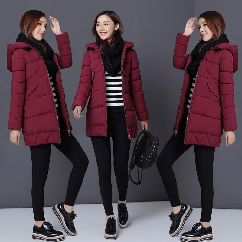 2017 новый зима женщины корейский в обратных сезон хлопок девочки длинная модель подбитый женщина мягкий сестра зима пальто женщина ватник