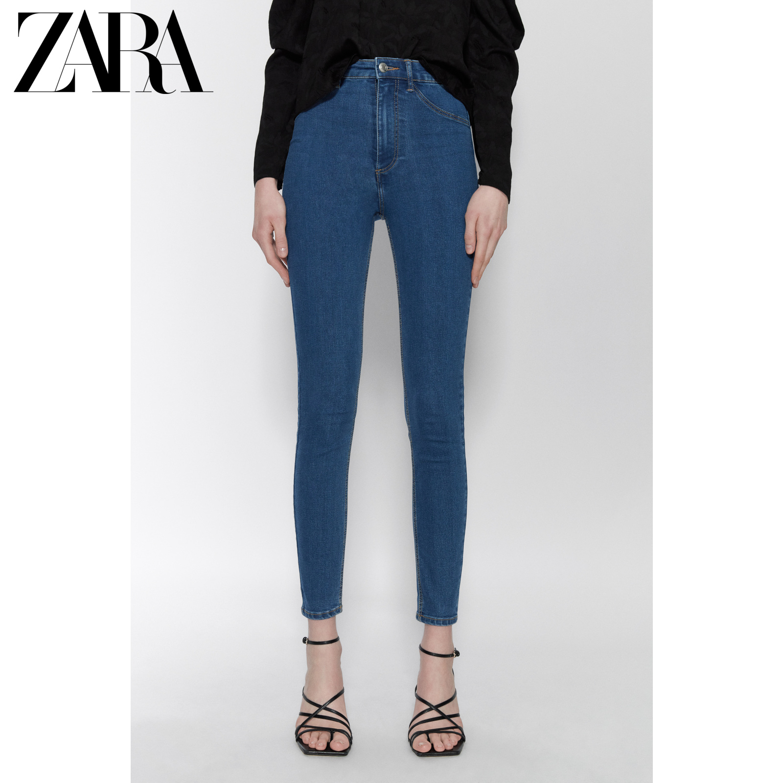 Zara new TRF women's super elastic high waist skinny jeans 08197003400