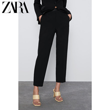 Zara new women's side belt decoration suit pants 02368691800