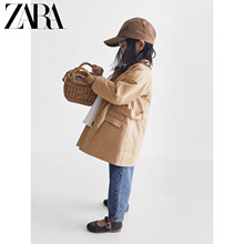 Zara new baby girls' spring and summer new product with belt windbreaker 07901501711