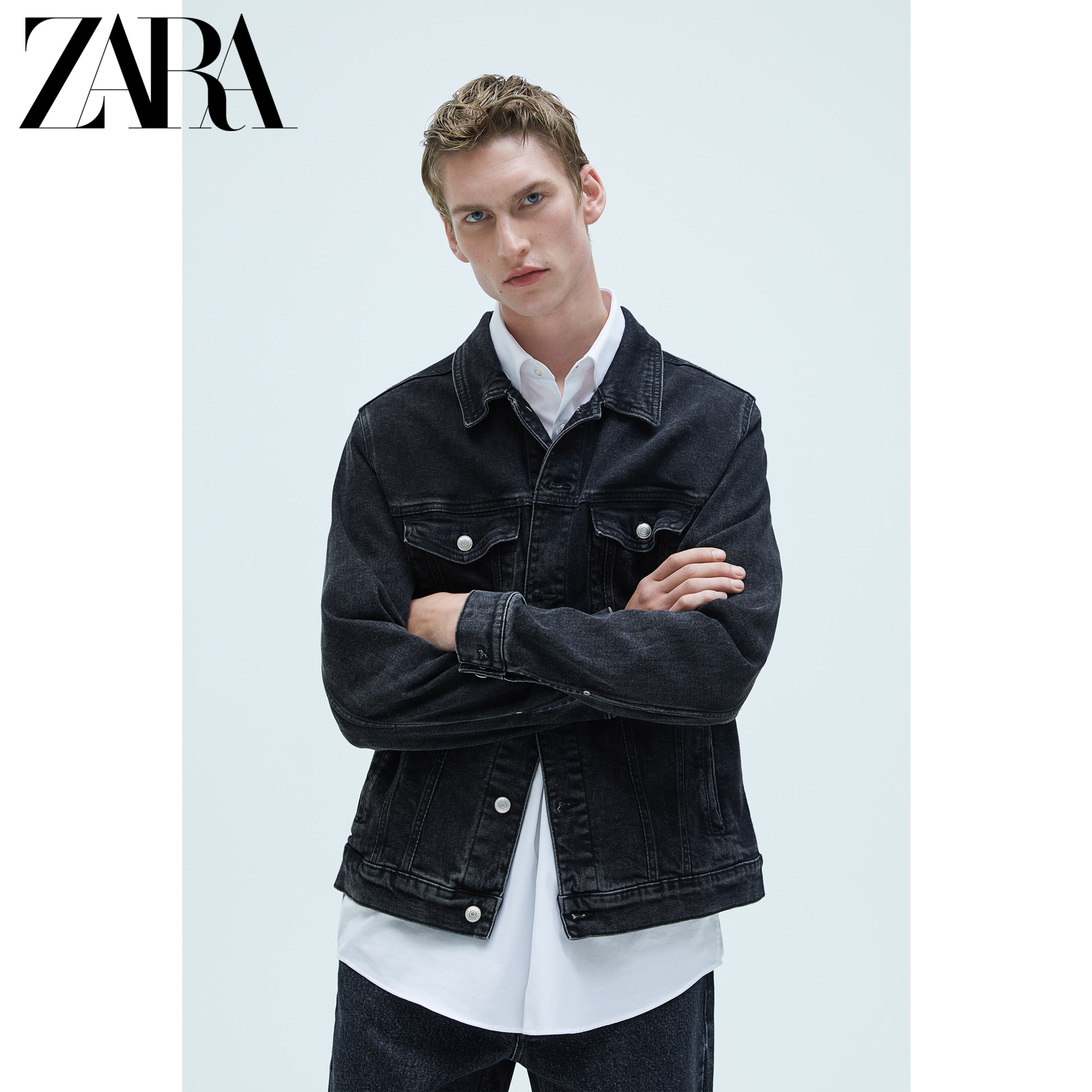 Zara new men's basic denim jacket coat 04454400802