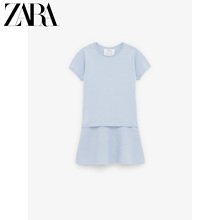 Zara discount new children's clothes girl's layered decorative knitted dress 05561706423