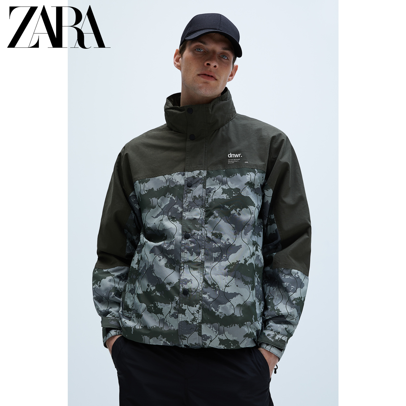 Zara new men's functional camouflage jacket 06985404505