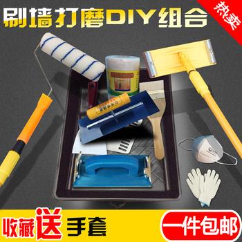 加长滚筒刷伸缩杆毛刷子工具砂架