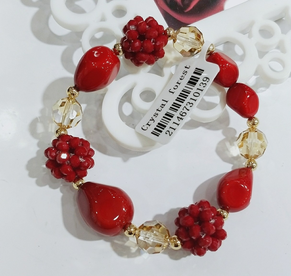 Auspicious blessing Chinese Red Bracelet female temperament red jujube BEADS BRACELET MULTI Pearl crystal accessories