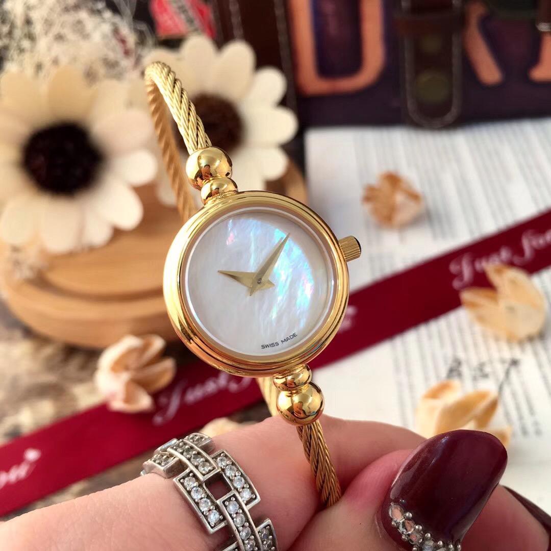 316L steel quartz watch waterproof compact temperament simple trend girls retro spring Fritillaria Bracelet Watch