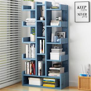 书架置物架落地客厅北欧收纳架简易储物架经济型树形书柜简约架子价格