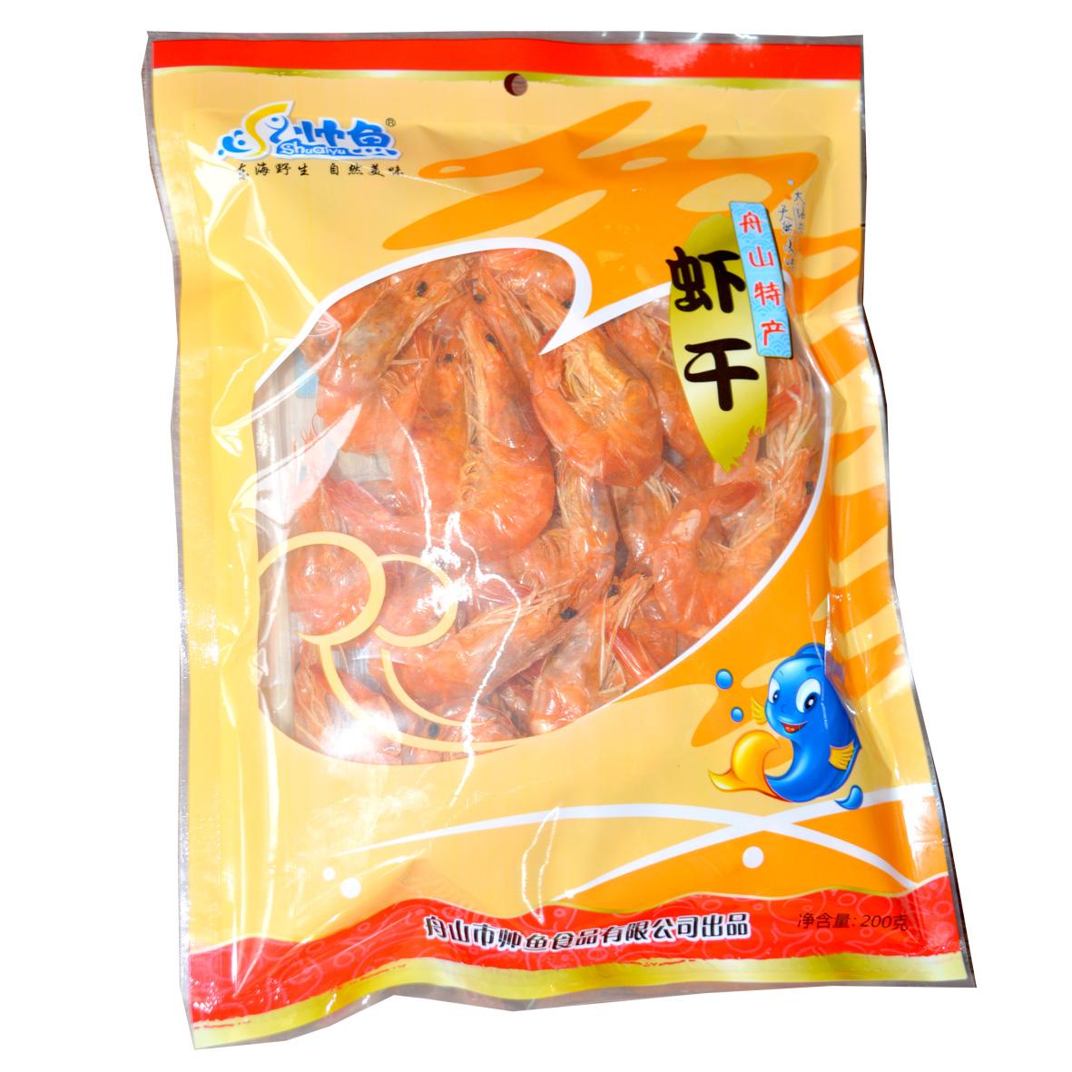 舟山特产 对虾干即食大对虾 烤虾干 海鲜干货海味小吃零食品200G