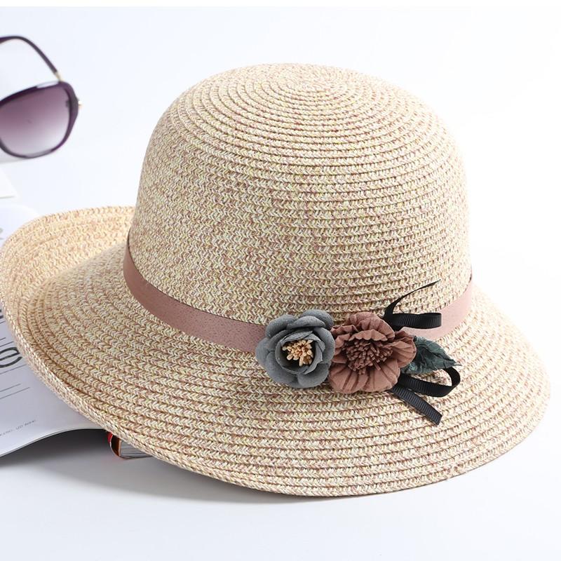 夏季子女防晒卷边遮脸度假潮大沿帽热销76件假一赔十