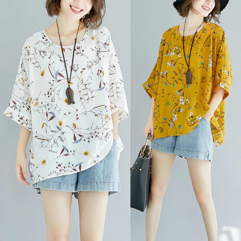 特加肥加大码女装薄款夏装宽松显瘦蝙蝠袖T恤雪纺衫200斤韩版上衣