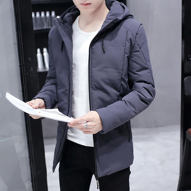 棉衣男士加厚外套中长款2018新款冬天季棉服韩版潮流工装棉袄男装