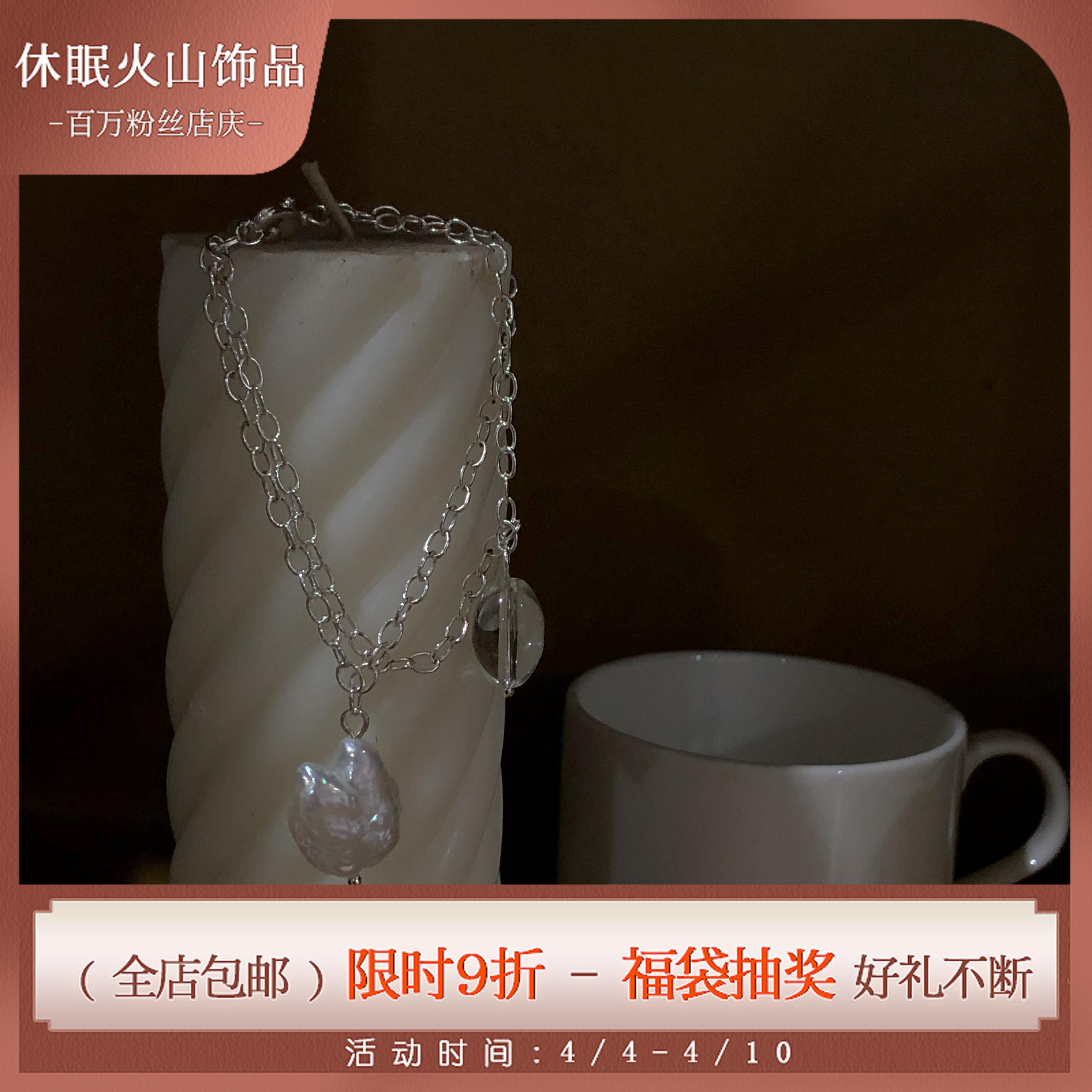 卡里普索之泪。ins设计感小众欧美简约复古天然巴洛克珍珠手链#
