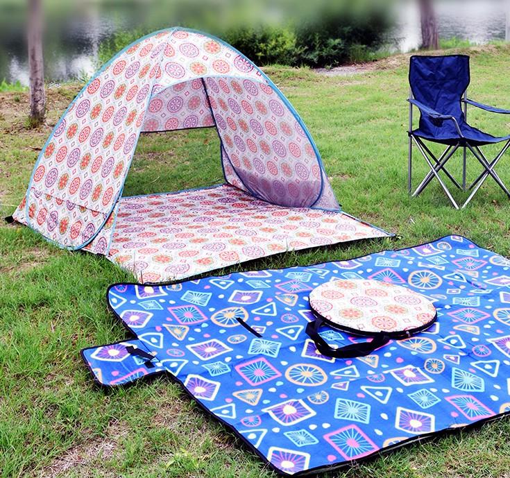特惠户外野营旅行用品登山帐篷全自动双人家用超轻帐沙滩儿童钓鱼