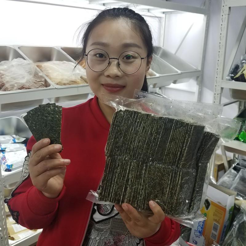 海婆婆芝麻夹心海苔250g即食夹心海苔礼包巴旦木米香杏仁散装包邮