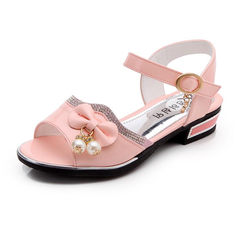 童鞋 女童涼鞋2016 高跟魚嘴兒童涼鞋女孩 中大童公主鞋