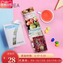 网红纯水果果片茶组合关心茶小袋装手工无添加新鲜水果切片花果茶