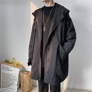 领5元券购买春秋季男中长款宽松版潮流英伦风衣
