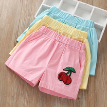 Girls'shorts wear all kinds of new thin stretch sports hot pants in the summer of 2019. Children's leisure pants