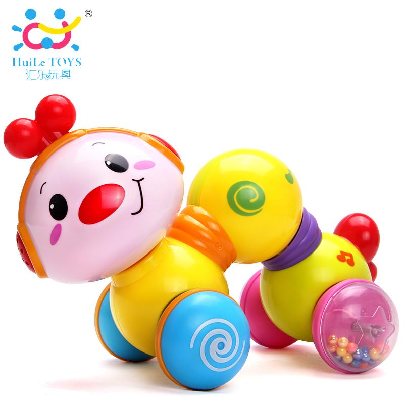 彙樂爬行玩具早教益智小蟲嬰幼兒學爬玩具寶寶學步0~1歲電動小車