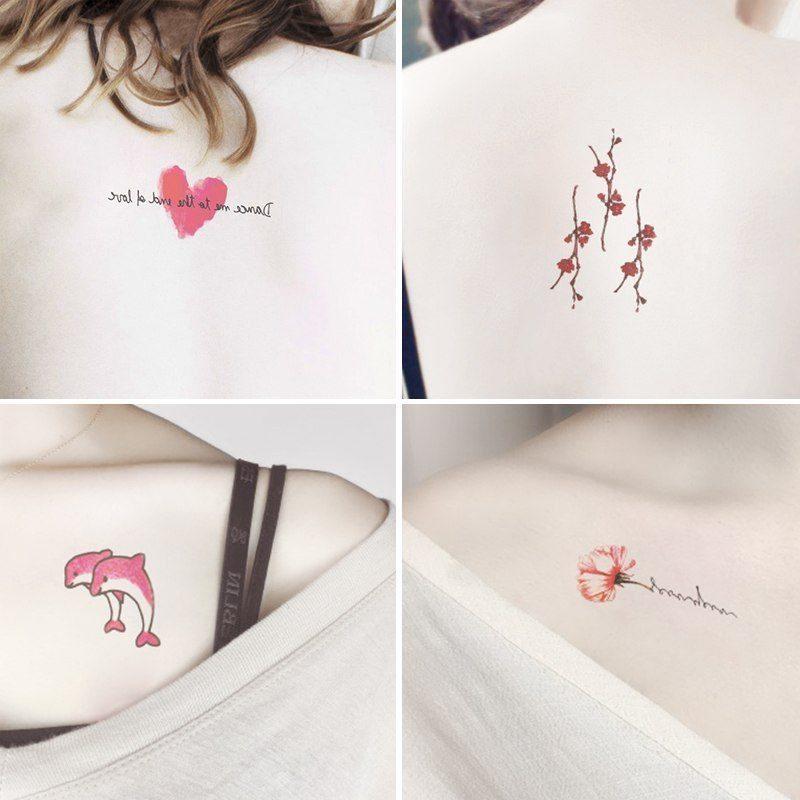 彼岸花纹身贴防水少女女风网持久红花爱心花朵古风性感模板新款10月25日最新优惠