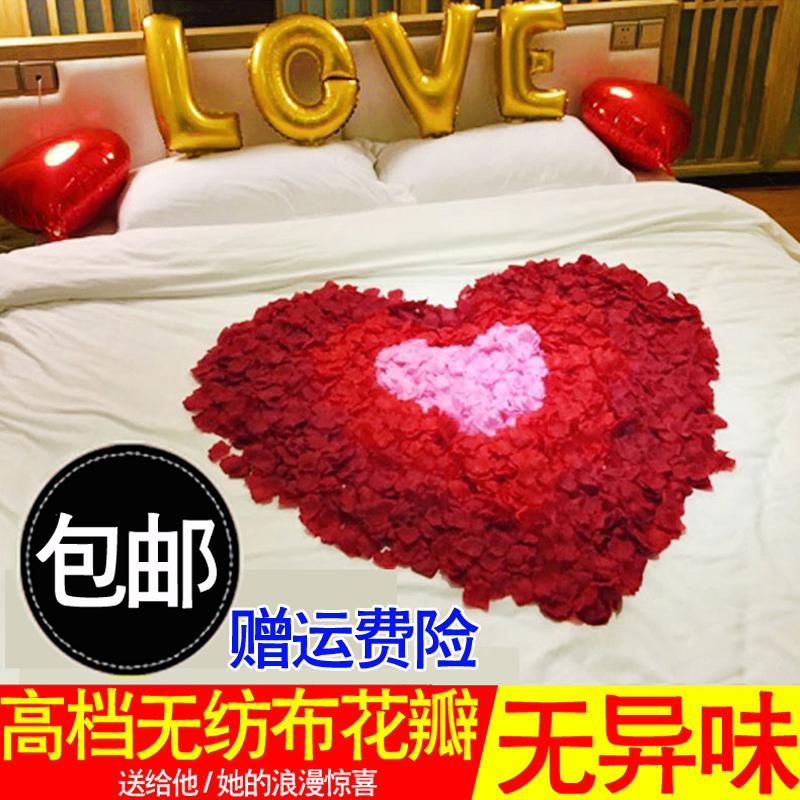 Моделирование роз клапан просить выйти замуж отстаивать день рождения декоративный день святого валентина романтический для взрослых партия ткань положить ложный лепесток