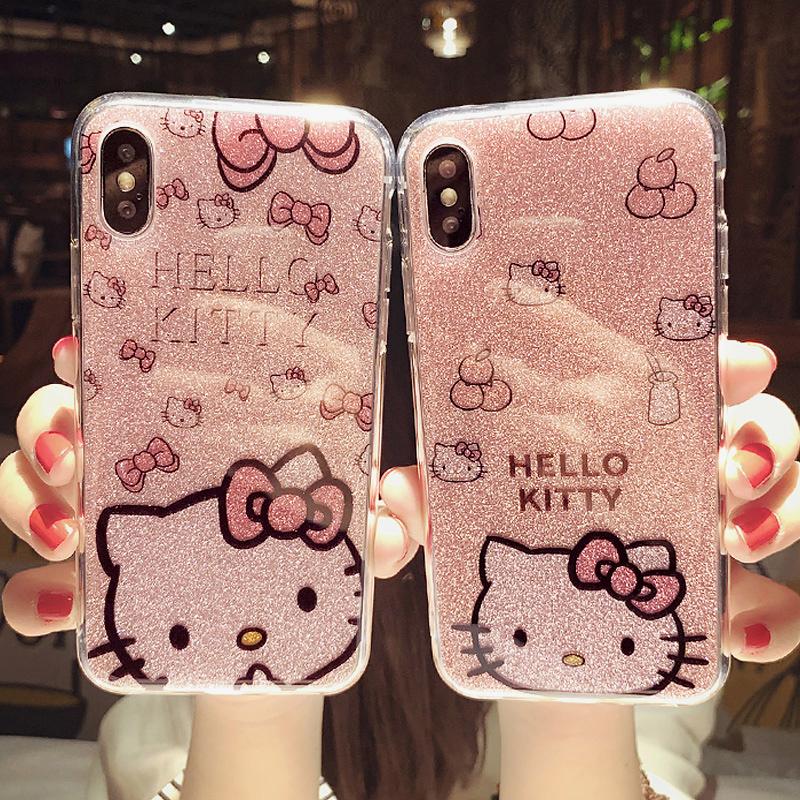 卡通可爱闪粉iphoneXSMax手机壳XR苹果X全包8软硅胶7plus潮6s女(用29元券)
