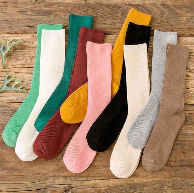 浅色春季米色多色单双好看吸汗韩国堆堆袜薄款女夏季超薄韩版肤色