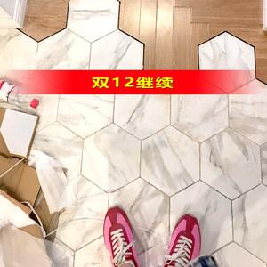 爵士白六角砖北欧大菱形砖复古地砖