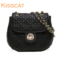 KISSCAT Kissing Cat New Style Female Sheepskin Miniature Single Shoulder Slant Chain Piggy Bag DB871D2-10