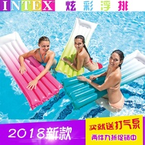 Intex floating floating bed water drifting inflatable bed adult swimming Circle inflatable swimming equipment Water bed