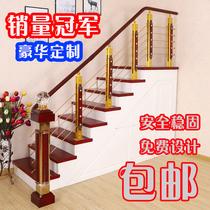 樓梯扶手護欄實木室內閣樓圍欄現代陽臺平臺立柱pvc簡約欄桿