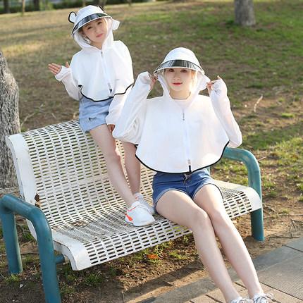 儿童女防紫外线2019新款洋气防晒衣