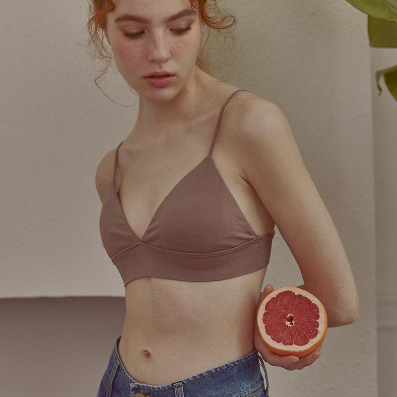 小胸三角杯细肩带内衣女无钢圈运动文胸少女平胸夏季薄款法式胸罩