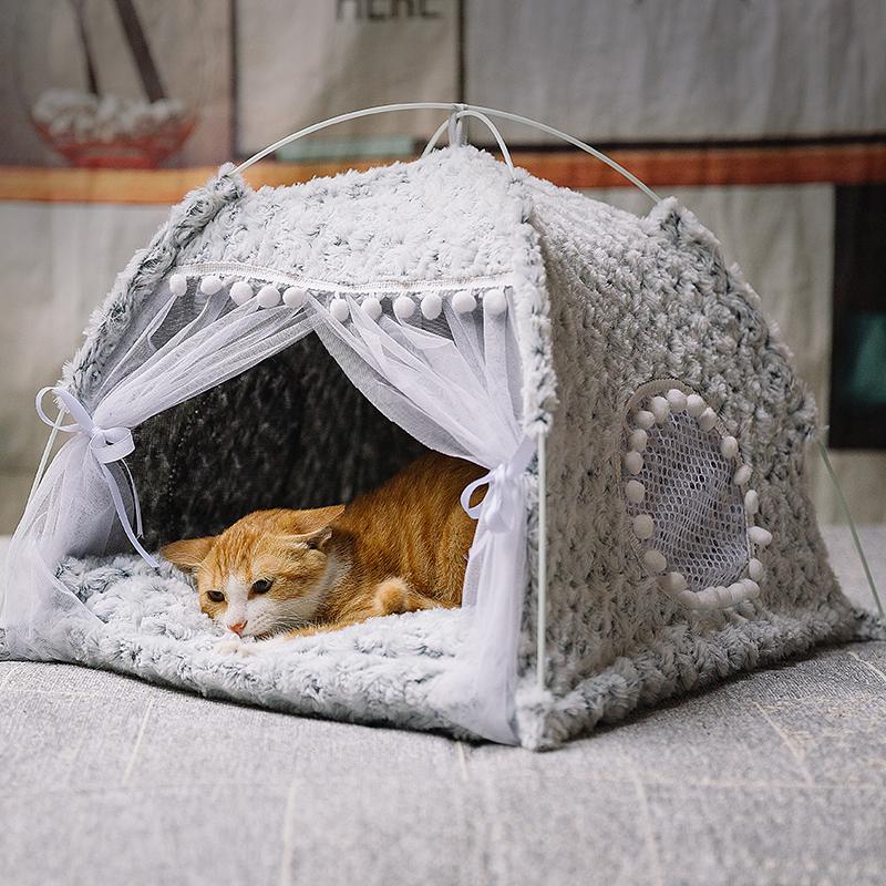 猫窝夏季猫帐篷猫咪猫房子封闭式宠物床四季通用狗窝别墅猫床用品