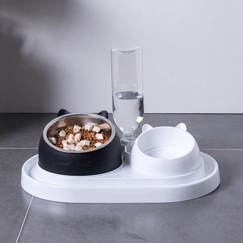 Cat Bowl Double Bowl Protection Cervical Spine Cat Bowl Cat Food Bowl Water Bowl Rice Bowl Cat Food Dog Bowl Slow Food Bowl Dogs Cat Supplies