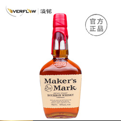宾三得利 美格波本威士忌 Maker's Mark Whisky 750ml 洋酒现货