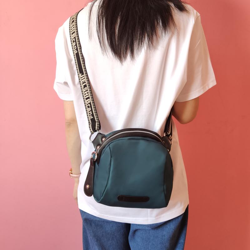 尼龙布帆布斜挎包包女包新款夏2021大容量牛津布女士单肩包贝壳包