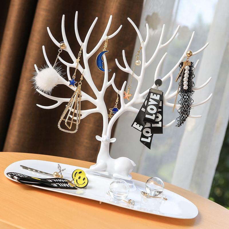 森林鹿角树形展示架创意饰品首饰盒耳环架项链手链耳钉收纳饰品架