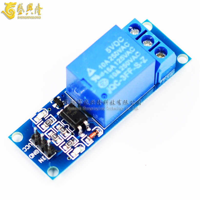 One way 5V relay module with optocoupler isolation relay MCU expansion board high level trigger