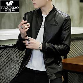 富贵鸟皮衣服男潮流帅气韩版夹克